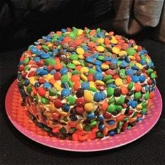 Monster Cake-peanut butter, oats, chocolate chips, whipped cream frosting, and mm's