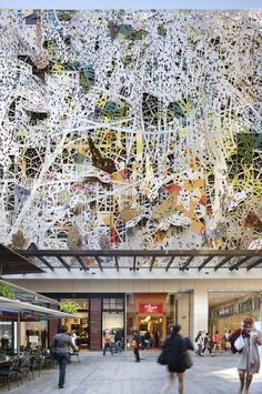 """""""The Wintergarden Façade is a radically experiential composition, a complex and beautiful study of nature, geometry and layering that communicates the rich diversity of life"""""""