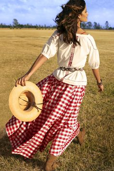 Why do I always like to revert to beauty in the country clothes? Perhaps, my Appalachian heritage?