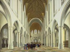 Saenredam, Pieter Jansz - Intérieur de l'église Saint-Bavon, Haarlem - Philadelphia Museum of Art