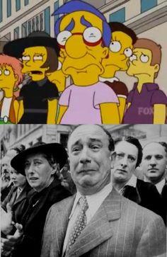 Fotografie celebri parodiate da I Simpson