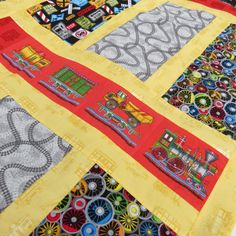 Train Quilt Top Twin Size by FillMyVase on Etsy