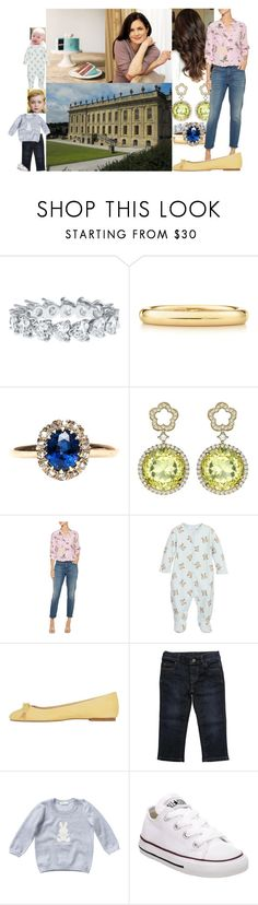 """""""Watching William help Elizabeth make Easter treats"""" by lady-maud ❤ liked on Polyvore featuring Elsa Peretti, Kiki mcdonough, Equipment, Rachel Riley, ANNA BAIGUERA, Gucci and Converse"""