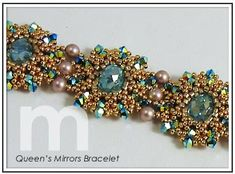 Gorgeous.  Queen's Mirrors Bracelet: Designed by Mabeline Gidez