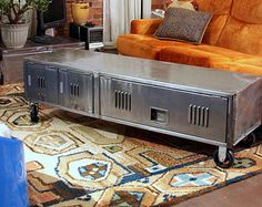 Repurposed Vintage Industrial Locker Coffee Table
