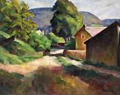 Bánk Ernő - Bánk Ernő Felsőbányai táj, 1927
