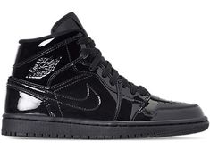 Buy and sell authentic Jordan 1 Mid SE Triple Black Patent (W) shoes and thousands of other Jordan sneakers with price data and release dates. Jordan Shoes Black, Jordan Retro 6 Black, Jordan Basketball Shoes, Jordan 1 Mid, All Jordans, Black Jordans, Womens Jordans, All Black Nikes, All Black Sneakers
