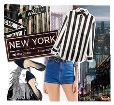 """New York Style"" by lialondon ❤ liked on Polyvore featuring BDG, Cole Haan, Balmain, women's clothing, women, female, woman, misses and juniors"
