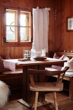 """This cosy cabin dining area is from our feature """"Wintry Embrace"""""""