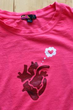 ben and birdy: Loving Heart T-Shirt (+ freezer paper stencil tutorial)