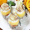 Tarte au citron meringuée, revisitée version verrine -