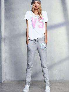 Straight-leg Pant - Fleece - Victoria's Secret