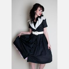 Sailor Baby Cotton Dress  by Rock and Roll Vintage. This is a 1940s-50s dress from Kay Windsor Originals.