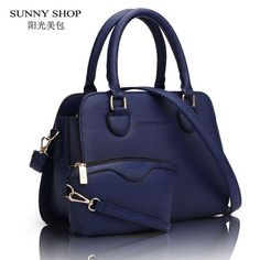 ca144e9cf9f7 SUNNY SHOP 2 Bag set European American Style Small Women Shoulder Bags High  Quality Leather