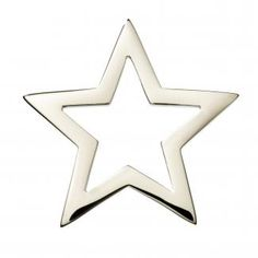 Star Pendant in Solid Silver - Buy Stylish Star pendant in a classic and stylish design in solid 925 Sterling silver from Fiilia Online Jewellery Store.  #silver #pendent #jewellery #star #UK