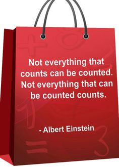 Not everything that counts can be counted. Not everything that can be counted counts. #MathQuotes #Math http://www.mathfilefoldergames.com/math-cafe/math-quotes/