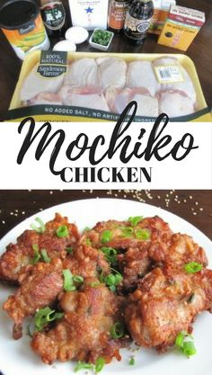 Mochiko Chicken made with chicken thighs has a unique crisp and chewy crust texture that is so delicious! It's my son's favorite chicken and most requested recipe. Fried Chicken Recipes, Chicken Thigh Recipes, Recipe Chicken, Entree Recipes, Asian Recipes, Dinner Recipes, Cooking Recipes, Japanese Fried Chicken, Asian Chicken