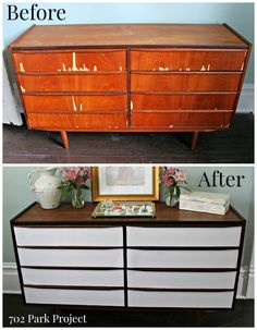 Mid Century Modern dresser makeover - 702 Park Project