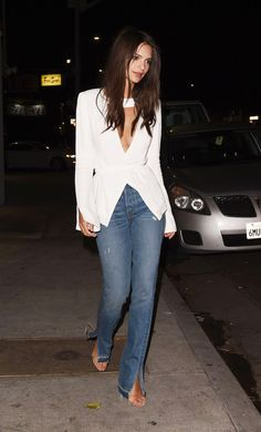 The Best Jean Style to Make Your Legs Look Long via @WhoWhatWear