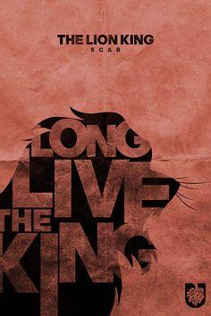 Lion King typogrrraphy poster