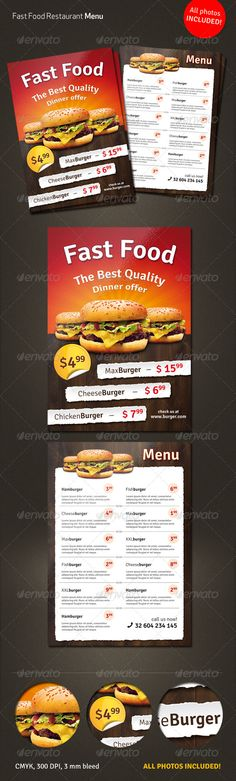 Thailand Food Menu Flyer Template  Food Menu Flyer Template And