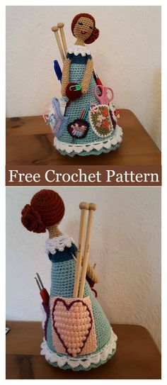 Crafter Doll Organizer Free Crochet Pattern #freecrochetpatterns