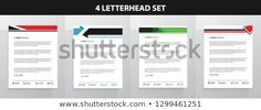 Find Letterhead Template Set stock images in HD and millions of other royalty-free stock photos, illustrations and vectors in the Shutterstock collection. Letterhead Design, Letterhead Template, Royalty Free Photos, Create Yourself, Templates, Letterhead, Stencils, Vorlage, Models