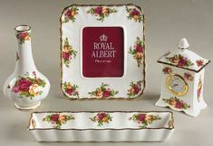 Royal Albert Old Country Roses 4 Piece Vanity Gift Set