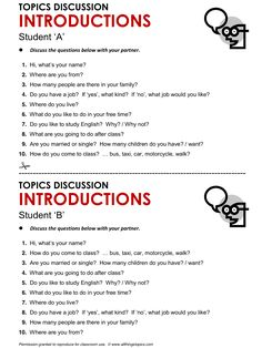Introductions, English, Learning English, Vocabulary, ESL, English Phrases, http://www.allthingstopics.com/introductions.html