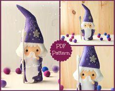 Pansy and Poppy fairies. PDF pattern. Felt doll. by Noialand