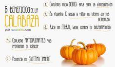 La dieta ALEA -  blog de nutrición y dietética, trucos para adelgazar, recetas para adelgazar: 5 beneficios de la calabaza