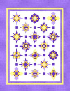 2013 - 2014 Little Bunny Quilt Along: Starburst Quilt Along. Now available for purchase.
