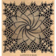 Crochet Pinwheel Doily Square PDF Pattern | TodaysTreasure2 - Craft Supplies on ArtFire
