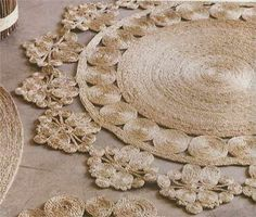 Instead of buying rugs or mats, here's a way to make your own rugs or mats using natural, affordable materials that you will find at your local Builders Warehouse. These gorgeous mats are made of jute, twine, sisal or cotton and are easy to make. http://www.home-dzine.co.za/crafts/craft-jute.htm#