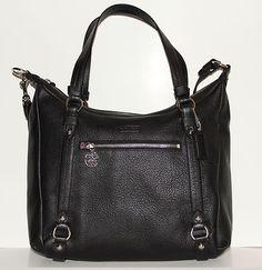 Black leather coach purse--- Have