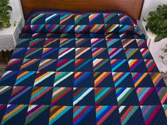 Roman Stripe Quilt from Amish Country Lanes- good one for leftover strips