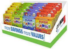 Jumbo Flash Cards Countertop Display Case Pack 44