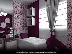 Quarto de Menina | Interiores 3D - Design de Interiores - Projetos e Decoração
