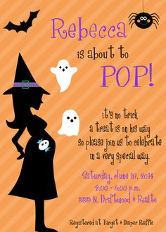 Halloween Baby Shower by InvitesbyLL on Etsy, $7.00