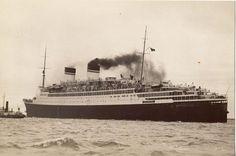 Italian Line CONTE DI SAVOIA sea trials, 1932   Ocean Liners ...