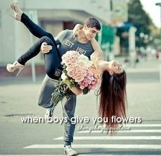 When boys give you flowers