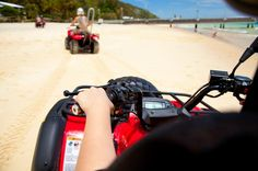 ATV Sightseeing Tour in St Maarten Visit three of St Maarten's beaches on this 4.5-hour ATV tour! Ride the coast, and visit Orient Beach, Frais Bay and Mullet Bay Beach. All necessary equipment is included and first time riders are welcome! Your guide will show you the sights of both sides of the island - Dutch and French!Spend 4.5 hours exploring the island of St Maarten on this ATV tour! After pickup from your hotel, you'll go over a basic overview and safety training with y...