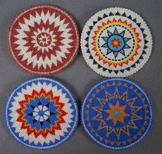 """The location where building and construction meets style, beaded crochet is the act of using beads to decorate crocheted products. """"Crochet"""" is derived fro Indian Beadwork, Native Beadwork, Native American Beadwork, Native American Design, Native Design, Loom Patterns, Beading Patterns, Peyote Patterns, Beadwork Designs"""