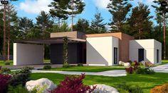 Общая площадь 180,1 м² Проект дома Zx183 — это проект в стиле хай-тек.