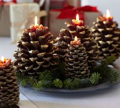 Pinecone #candles: #Christmas #Holidays