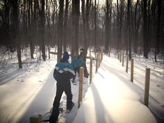 Where's your favorite place to #snowshoe in #Wisconsin?