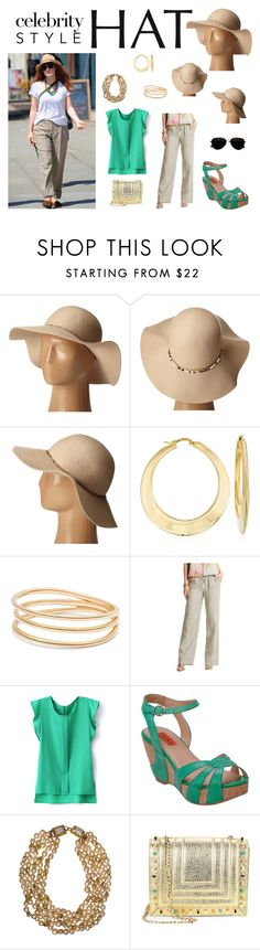 """""""Jessica Chastain's Felt Hat"""" by taviakp ❤ liked on Polyvore featuring Steve Madden, Ross-Simons, GUESS by Marciano, Miz Mooz, Chanel, Luana and Calvin Klein"""