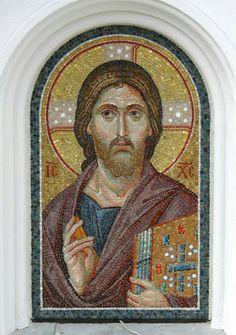 Byzantine Icons, Byzantine Art, Catholic Art, Religious Art, Anima Christi, Mosaic Portrait, Textile Sculpture, Mosaic Artwork, Orthodox Icons