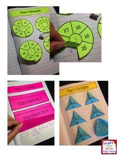 Multiplication Interactive Notebook by Not So Wimpy Teacher Math Strategies, Math Resources, Math Activities, Teaching Multiplication, Teaching Math, Fractions, Math For Kids, Fun Math, Third Grade Math