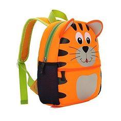 School Bag Backpack Kids Tiger Waterproof Preschool Toddlers Travel Gift for sale online Bts Backpack, Black Backpack, Backpack Bags, Disney Frozen Olaf, Usb Headphones, Toddler Travel, School Bags For Kids, Tiger, Kids Backpacks